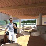 LA FARNESINA - Vista prospettica: Render Club house bar